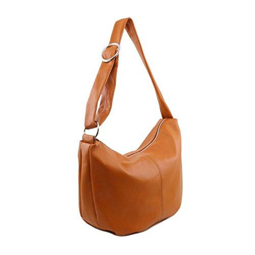 en Cognac Bolso Rojo mujer para Leather Tuscany piel Yvette gtzwq