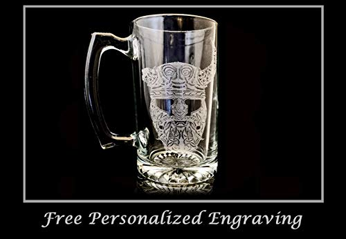 Celtic Viking 26oz Stein, Free Personalization Beer Mug
