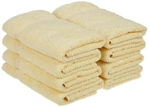 Superior Egyptian Cotton 8-Piece Hand Towel Set, Canary