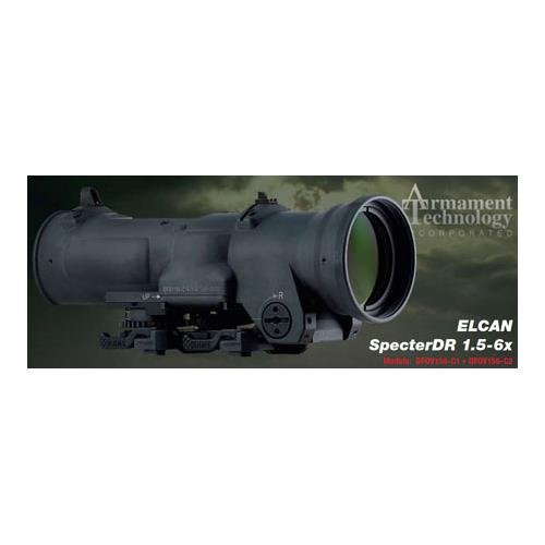 ELCAN DFOV156-C2 1.5-6X Ball. CROS. with User-Select. Red Dot Vsor RANG Laser Rangefinders