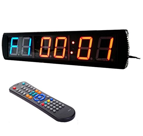 BTBSIGN Workout MMA Tabata Home Gym Timer Large LED Countdown Clock