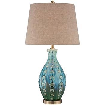 Unique Mid-Century Ceramic Vase Teal Table Lamp - - Amazon.com RC99