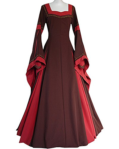 King Of Hearts Costumes For Adults (Women Lace Up Renaissance Medieval Irish Costume Over Dress by JeanewPole1)