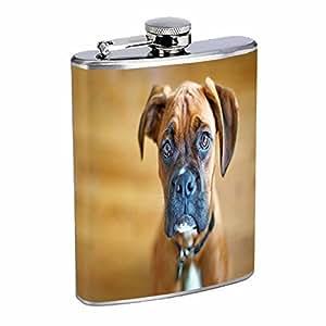 Dog Boxer 01 Flask 8oz