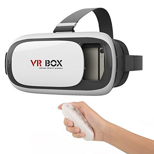 JT Pro VR Box 2.0 With Bluetooth Controller, 2Nd Gen Virtual Augmented Reality Cardboard 3D Video Glasses