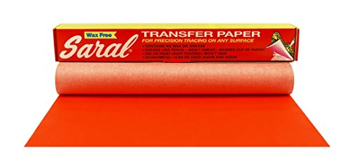 Saral Wax Free Transfer Paper - Red - 12 inches x 12 foot Roll