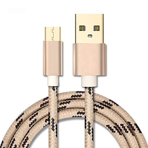 Micro USB Cable 2.4a Fast Data Sync Charging Cable for Samsung Huawei Xiaomi Lg Andriod MicroUSB Mobile Phone Cables,Gold,100cm