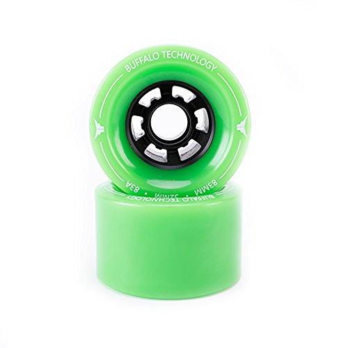 前に半島アーサーコナンドイルBuffalo電動スケートボードRubber Wheels – PU 83 mm 85 A wheels for e2スケートボードLongboardグリーン(Pack of 2 )