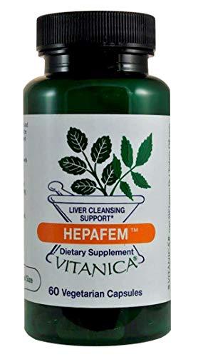 Vitanica Hepafem, Liver Cleansing Support, Vegan, 60 Capsules