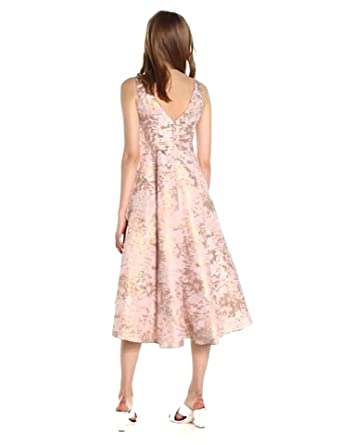 Adrianna Papell Women S Metallic Jacquard Fit And Flare