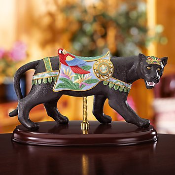 LENOX BLACK JAGUAR CAROUSEL CAT New Limited Edtion w/Certificate of Authenticity