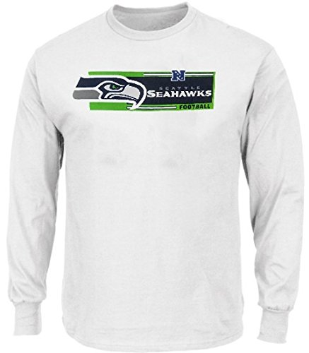 652479282 Image Unavailable. Image not available for. Color  Seattle Seahawks NFL  Mens Long Sleeve Critical Victory Shirt Big   Tall Sizes
