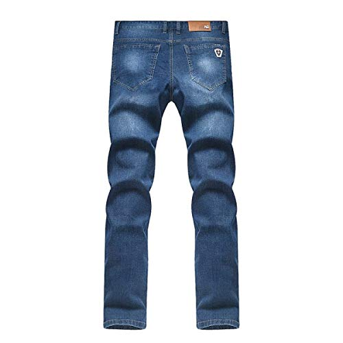 Denim Blu In Vita Abbigliamento Traspiranti Fit Uomo Slim Stretch A Con Jeans Media CwUv7RqX