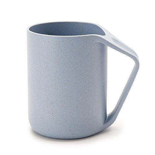 Maison Maxx Eco Friendly Healthy Wheat Straw Plastic Tumbler, Mug, Cup for Water, Coffee, Milk, Juice, Tea (1pcs, fl.13.5oz, Blue) (Juice Mug compare prices)