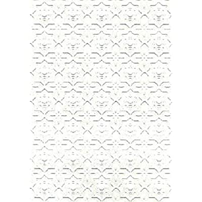 Melody Jane Dollhouse Embossed Dado Paper Wall or Ceiling Miniature Print Wallpaper 1:12: Toys & Games