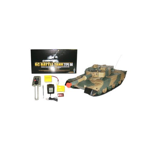 Azimporter 1/24 Defense Force Type 90 Radio Remote-Control R/C Airsoft Army Military Fighting Combat Battle Tank Toy