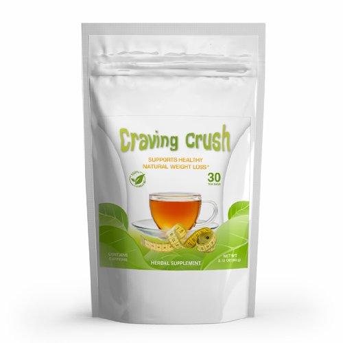 Craving Crush - Perte de poids de thé et coupe-faim naturel, New Facile Minceur Formule * 30 Sachets - Poids net 2,12 oz (60g)