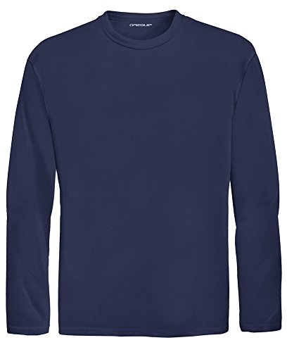DRI-EQUIP Youth Long Sleeve Moisture Wicking Athletic Shirts. Youth Sizes XS-XL, True Navy, Large