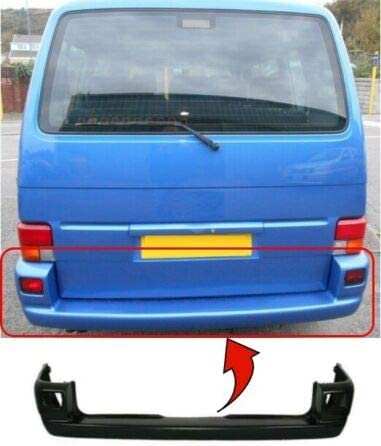 Rear Bumper Black Smooth Compatible With Transporter T4 Caravelle 1997-2003 Trade Vehicle Parts VK1094