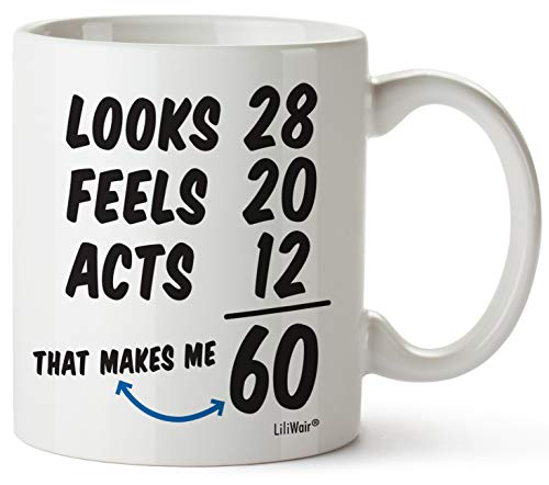 1960 60th Birthday Gifts Men Women | Birthday Gift for Man Woman turning 60 | Funny 60 th Party Supplies Decorations Ideas | Sixty Year Old Bday Coffee Mug | 60 Years Gag Office Cups Presents Mens