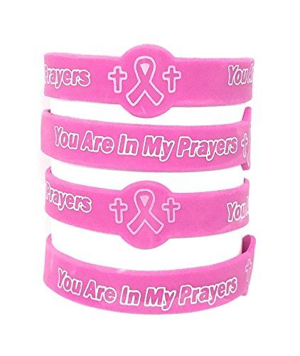 50 SVT Bulk Breast Cancer Faith Prayer Bracelets by Sea View Treasures