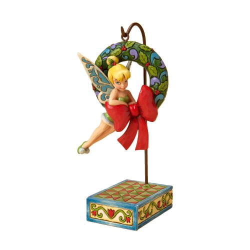 Enesco Disney Traditions Designed by Jim Shore Tinker Bell with Wreath Figurine 3 in