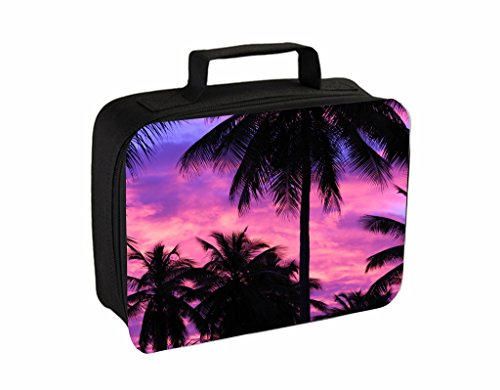 Purple Palm Tree Silhouette Sunset Jacks Outlet TM Travel Toiletry Bag with - Spring Palm California Outlet