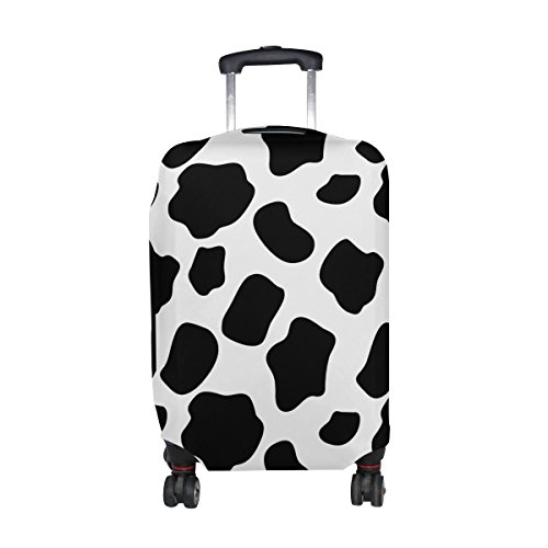 LORVIES Cow Pattern Print Travel Luggage Protective Covers Washable Spandex Baggage Suitcase Cover - Fits 18-32 Inch (Cow Print Luggage)