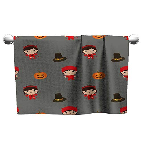 Michaeal Beach Towels Halloween Pattern Kid Costume Pattern Cool Towel 10 x 40 Inch