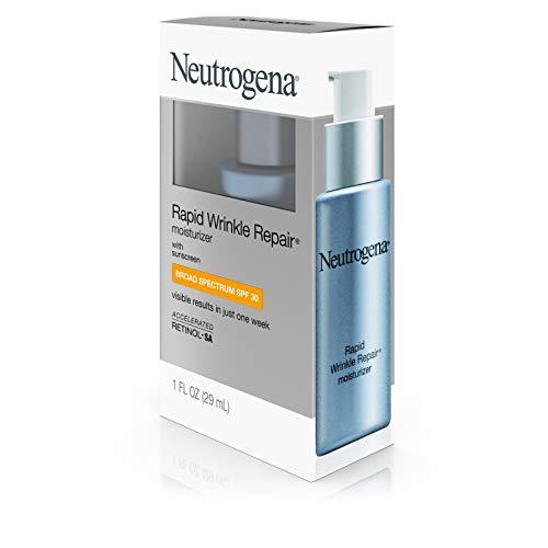 415Ig3sVbTL - Neutrogena Rapid Wrinkle Repair Daily Hyaluronic Acid Retinol Face Moisturizer, Anti Wrinkle Face Cream & Neck Cream with SPF 30 Sunscreen - Hyaluronic Acid, Retinol & Glycerin with SPF 30, 1 fl. oz