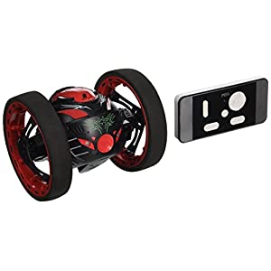 NiGHT LiONS TECH 2.4G RC Radio Drone Jump High Bounce Car with Flexible Wheels (black and red)