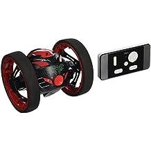 Noche Lions Tech® 2.4G RC Drone Jump de radio coche de alto rebote con ruedas, color negro y rojo flexible