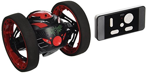 NiGHT LiONS TECH 2.4G RC Radio Drone Jump High Bounce Car with Flexible Wheels (black and (Drone Wheels)