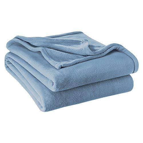 Bare Home Ultra Soft Microplush Velvet Blanket - Luxurious Fuzzy Fleece Fur - All Season Premium Bed Blanket (Full/Queen, Coronet Blue)