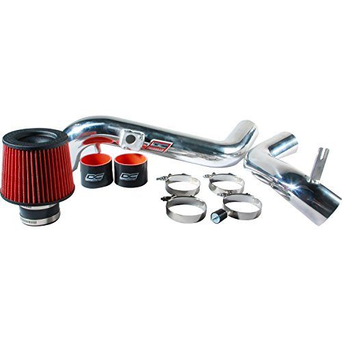 DC Sports CAI4409 Toyota Camry 6 Cylinder Polished Cold Air Intake System with Filter and Installation - Air Camry Cold Intake