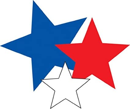 amazon com eureka paper cut outs red white and blue stars