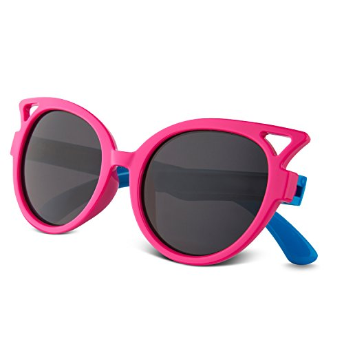 b5f5f232cec RIVBOS RBK002 Rubber Flexible Kids Polarized Sunglasses for Baby and Children  Age 3-10(rose red) - Buy Online in Oman.