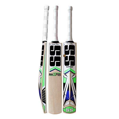 SS master 100 kw bat Kashmir Willow Cricket Bat ( Size: Short Handle,Leather Ball ) Price & Reviews