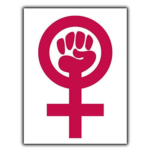 フェミニズムシンボルフェミニスト 金属板ブリキ看板注意サイン情報サイン金属安全サイン警告サイン表示パネル