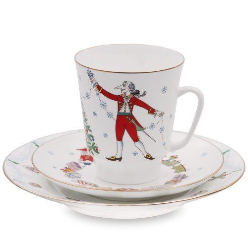 Imperial / Lomonosov Porcelain 'The Nutcracker Ballet' 3-pc. (Nutcracker Factory)