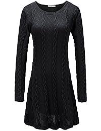 Women's Knitted Long Sleeve Fall Tunic Dress