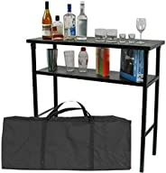 Trademark 99-5310 Deluxe Metal Portable Outdoor Bar Table with Carrying Case