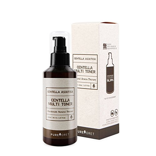 Pureforet Centella Multi Toner Alcohol-Free Moisturizing Facial with Natural Aroma Therapy Treatment for Sensitive Breakout Prone Skin Amazing synergy for Anti-Acne trouble skin Cica 150ml 5.07Fl oz ()