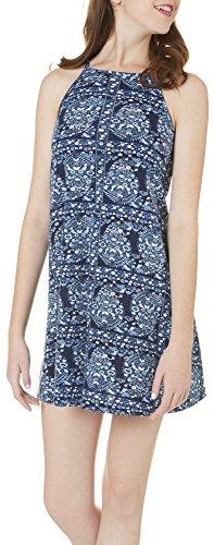 Angie-Juniors-High-Neck-Floral-Print-Knit-Dress