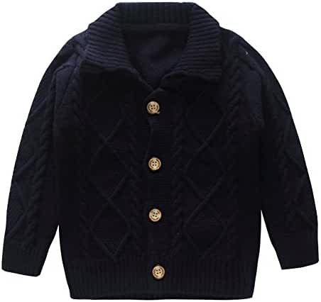 Coodebear Little Baby Boys Cashmere Button Lapel Cardigan Sweater