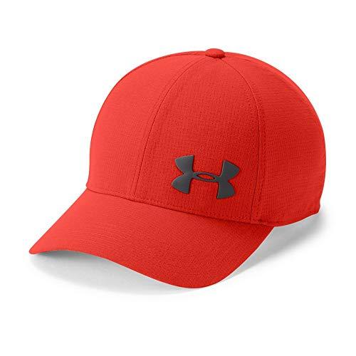 Under Armour Men's ArmourVent Training Cap, Radio Red (890)/Charcoal, Medium/Large