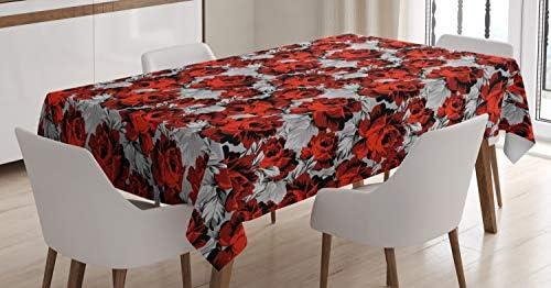 Sable Marron Bleu et Ruby r/étro Ottoman Linge de Table Rectangulaire pour Salle /à Manger D/écor de Cuisine ABAKUHAUS marocain Nappe 140 cm x 170 cm