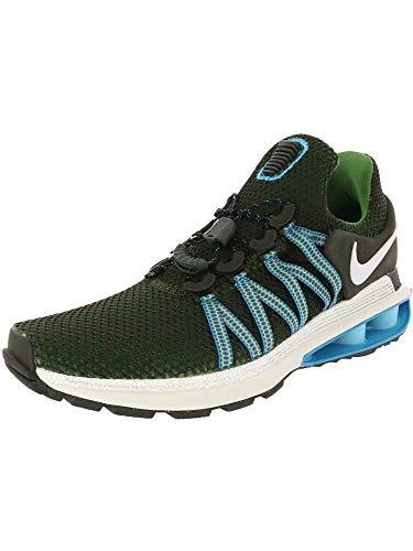 (Nike Men's Shox Gravity Ankle-High Running Shoe - 9M - Sequoia/White)