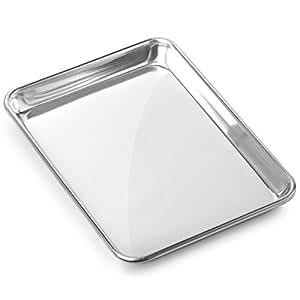 """Gridmann 9"""" x 13"""" Commercial Grade Aluminium Cookie Sheet Baking Tray Jelly Roll Pan Quarter Sheet - 1 Pan"""