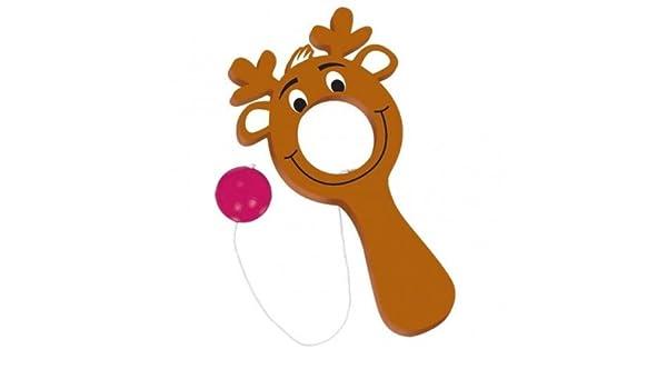 Christmas Reindeer Bulls-Eye Bat /& Ball Games x 12